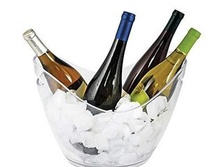 True Ice Bucket Holder Chilling Tub for Indoor and Outdoor Use Holds 4 Wine Bottles  10 25  Clear