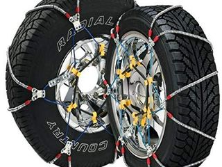 Security Chain Company SZ435 Super Z6 Cable Tire Chain for Passenger Cars  Pickups  and SUVs   Set of 2