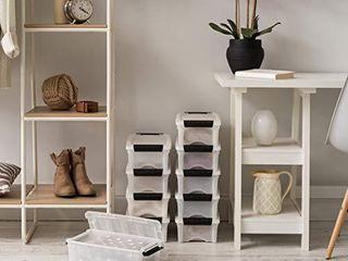 IRIS USA  Inc  TB 35 5 Quart Stack   Pull Box  Multi Purpose Storage Bin  10 Pack  Pearl