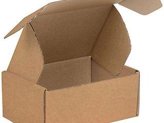 BOX USA BMFl964K Deluxe literature Mailers  9  x 6 1 4  x 4  Kraft  Pack of 50