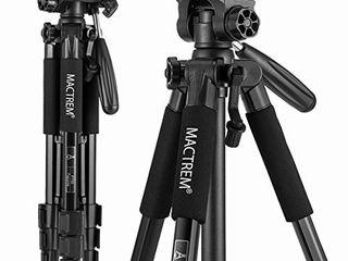 Mactrem PT55 Travel Camera Tripod lightweight Aluminum for DSlR SlR Canon Nikon Sony Olympus DV with Carry Bag  11 lbs 5kg  load  Black