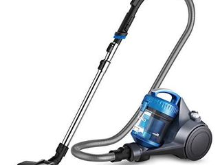 Eureka WhirlWind Bagless Canister Vacuum Cleaner  lightweight Vac for Carpets and Hard Floors  Blue