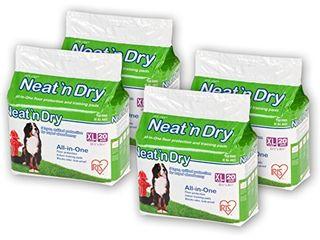 IRIS Neat  n Dry Premium Pet Training Pads  Extra large  23 5  x 35 5  80 Count