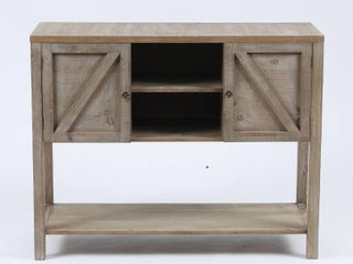 Wood Farmhouse Buffet Storage Cabinet