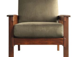 Mission Chair with Olive Microfiber