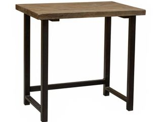 Carbon loft lawrence Metal and Solid Wood Desk   Small