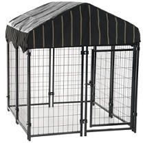 lucky Dog Pet Resort Kennel with Cover  52 H x 4 W x 4 l