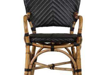 Poly and Bark Roma Rattan Dining Chair  Black