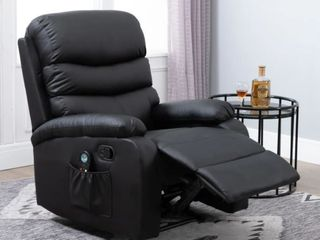 Copper Grove Ramsey Heated Massaging Faux leather Recliner  Brown