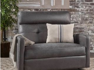 Halima Fabric 2 Seater Recliner Club Chair by Christopher Knight Home  Charcoal
