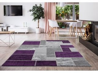 l Baiet Verena Purple Geometric Rug