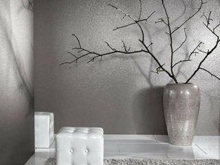 Gray Silver Natural Real Terra Mica Stone Wallpaper