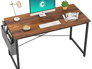 Cubiker Computer Desk 47 inch Home Office Writing Study Desk  Modern Simple Style laptop Table with Storage Bag  Deep Brown