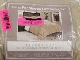 Elegant Comfort Reversible Sherpa Micro Suede 3 Piece Comforter Set