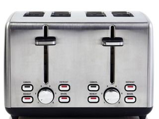 Professional Series 4 Slice Toaster Wide Slot Stainless Steel