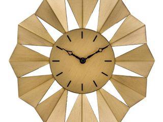 la Crosse Clock 83230 BHG 12 8  Gold Metal Sunray Quartz Wall Clock