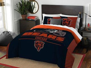 The Northwest Company NFl Chicago Bears Draft Full Queen 3 piece Comforter Set