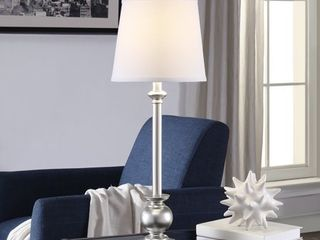 Margate Silver 29 5 inch Resin Tapered Drum Buffet lamp