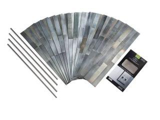Aspect Peel   Stick Gilded Silver Distressed Metal 15 sq ft Kit