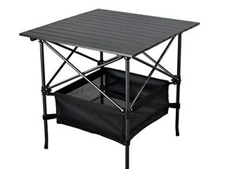 WUROMISE Sanny lightweight Square Folding Portable Picnic Camping Table  Aluminum Roll up Table with Easy Carrying Bag for Indoor Outdoor Camping  Beach Backyard  BBQ  Party  Patio  Picnic