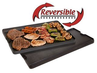Camp Chef Pre Seasoned Cast Iron Reversible Griddle And Grill Combo