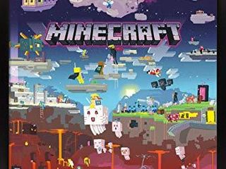 Trends International Minecraft   World Beyond Wall Poster  22 375  x 34  Black Framed Version