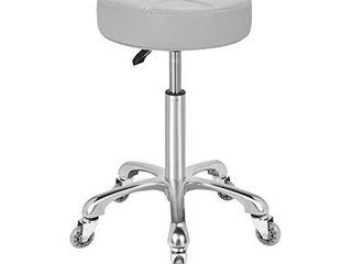 Karrie Swivel Stool Chair Adjustable Height Heavy Duty Hydraulic Rolling Metal Stool for Kitchen Salon Bar Office Massage  Grey