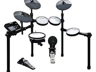 HXW SD61 5 Mesh Kit Electric Drum Set 8 Piece Electronic Drums  Dual zone Snare and Cymbal With Choke  Drum Sticks Included