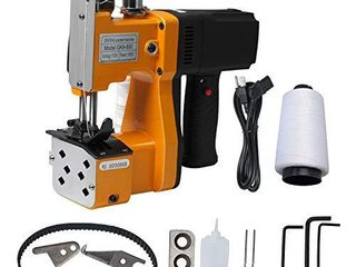 Gk9 890 Portable Bag Closer Machine  110V Industrial Electric Bag Closing Sewing Sealing Stitching Machine for Woven Snakeskin Paper Bag  190W Handheld High Speed Machine with Accessories