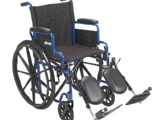 Drive Medical BlS18FBD ElR Blue Streak Wheelchair with Flip Back Desk Arms  Elevating leg Rests  18 Inch Seat