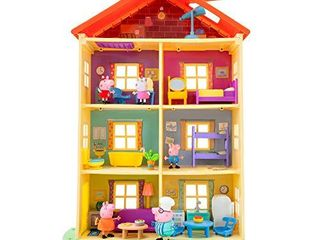 Peppa Pig lights N Sounds Family Home  with Two Bonus little Rooms   Includes 5 Character Toy Figures Plus Toy Home Furnishings for a Total of 20 Fun Accessories   Amazon Exclusive