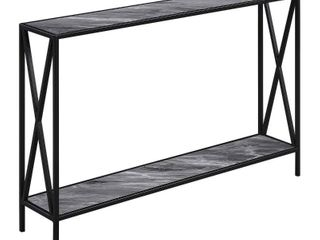 Convenience Concepts Tucson Console Table  gray Marble   Black