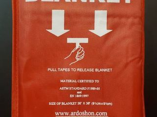 First Defense  Fire Safety Blanket 36 x36  Emergency Blanket Withstands Temperatures to 1022 Degrees  ASTM F1989 05 Compliant