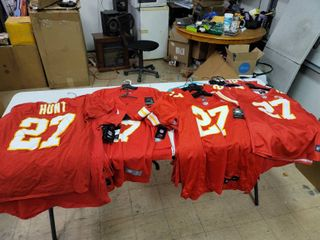 Youth and Adult Sizes Kansas City Chiefs Kareem Hunt Jerseys and tee shirts