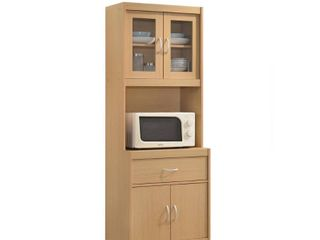 Hodedah Kitchen Cabinet in Beech
