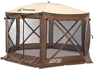 Clam Corp Quick Set 9882 Pavilion Pop Up Shelter  150 x 150  Brown Tan