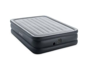 Intex 20in Queen Dura Beam Essential Rest Airbed with Built In Electric Pump