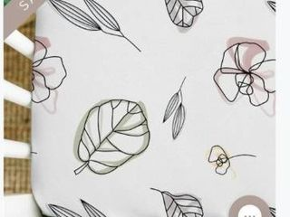 Goumikids Soft Organic Cotton Standard Fitted Baby Crib Sheet  Abstract Flowers