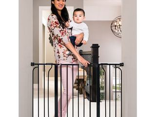Regalo Extra Wide Easy Step Metal Walk Through Baby Gate   Black