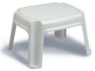 Gracious living Extra Safe Non Slip 12 Inch Rubber 1 Step Home Step Stool  White