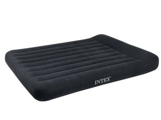 Intex Classic Inflatable Dura Beam Air Mattress Bed w  Pillow Rest   Pump  Full
