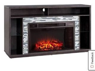 Fa9042 Stone Glass Tiled Media Fireplace