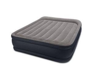 Intex Deluxe Pillow Rest Raised Blow Up Air Bed Mattress w  Built In Pump  Queen