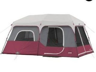 Core Instant Cabin 14 X 9 Foot 9 Person Cabin Tent With 60 Second Assembly  Red