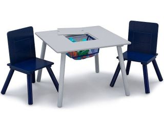 Delta Children Kids Table and Chair Set with Storage  2 Chairs Included