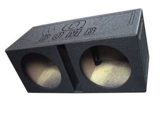 Q Power QBOMB12V Dual 12 Inch Vented Speaker Box with Durable Bed liner Spray