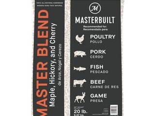 Masterbuilt Maple  Hickory  and Cherry Master Blend BBQ Wood Pellets  20 Pounds