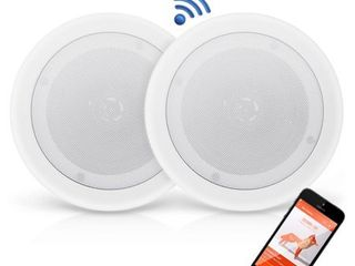 PYlE PDICBT852RD   Dual 8IJIJ Bluetooth Ceiling   Wall Speakers  2 Way Flush Mount Home Speaker Pair  250 Watt
