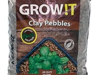 GROW T GMC10l   4mm 16mm Clay Pebbles  Brown   10 liter Bag    Made from 100  Natural Clay  Can be used for Drainage  Decoration  Aquaponics  Hydroponics and Other Gardening Essentials