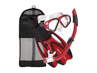 U S  Divers Adult Cozumel Mask  Seabreeze II Snorkel  ProFlex Fins Gear Bag Set